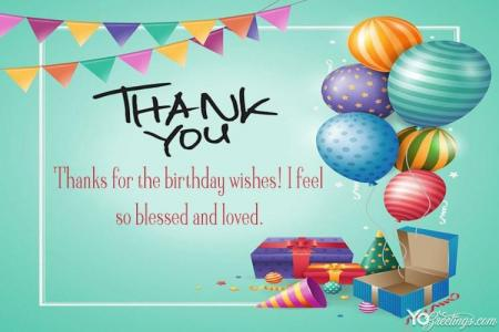 Create Birthday Thank You Card For Everyone