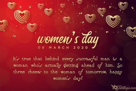 Customize Our Free Happy Women's Day Greeting Cards for 2020
