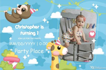 Kids' Birthday Party Invitations Card Maker Online