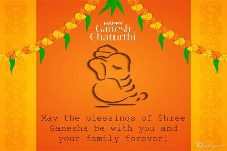 Indian Festival Ganesh Chaturthi Greeting Cards