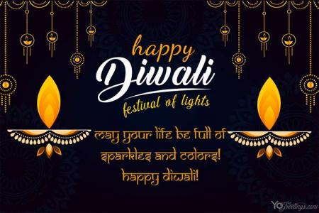 Happy Diwali Hindu Festival Card Maker Online