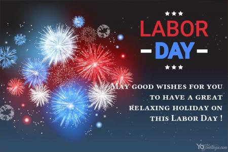 Make Happy Labor Day Card With Fireworks