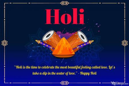 Free Holi Festival of Colors Greeting Cards Maker Online