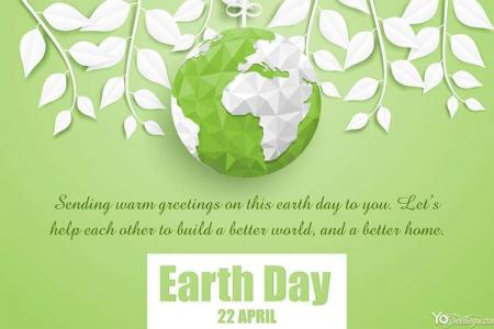 Create Earth Day Greeting Card Online