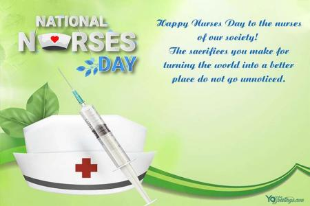 Free Green Happy Nurses Day eCards & Greeting Cards