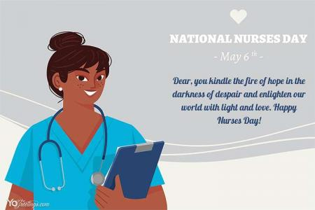 Personalize Your Own National Nurses Day Greeting Card