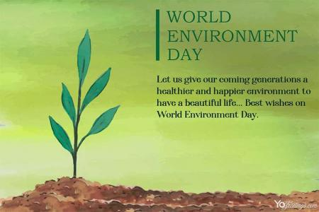 Free World Environment Day Greeting Cards Maker Online