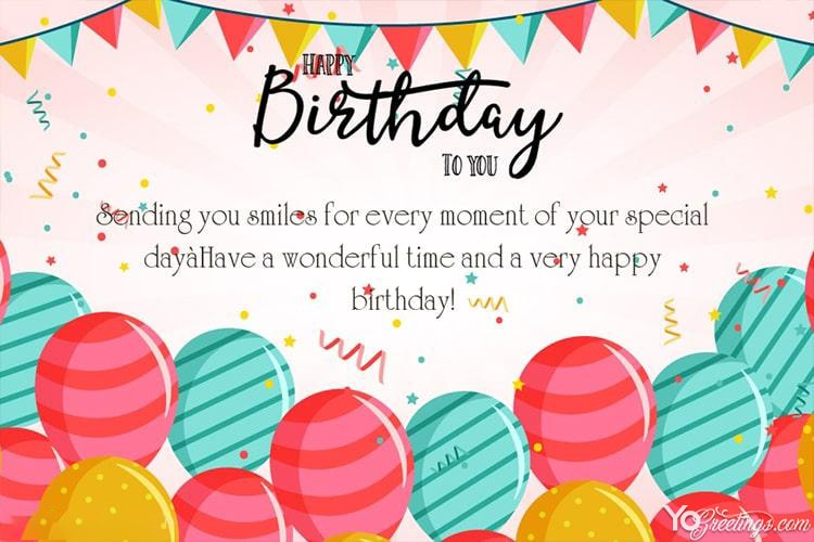 Happy Birthday Wishes Card For Friends Free Download