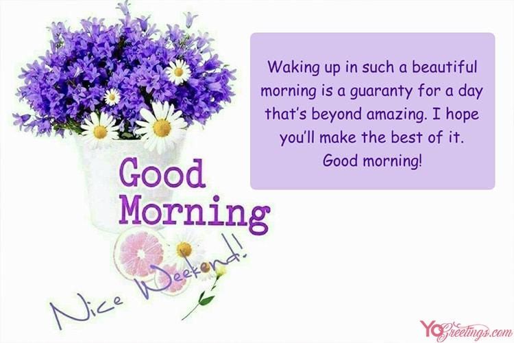 Create Your Own Flower Good Morning Greeting Cards Images