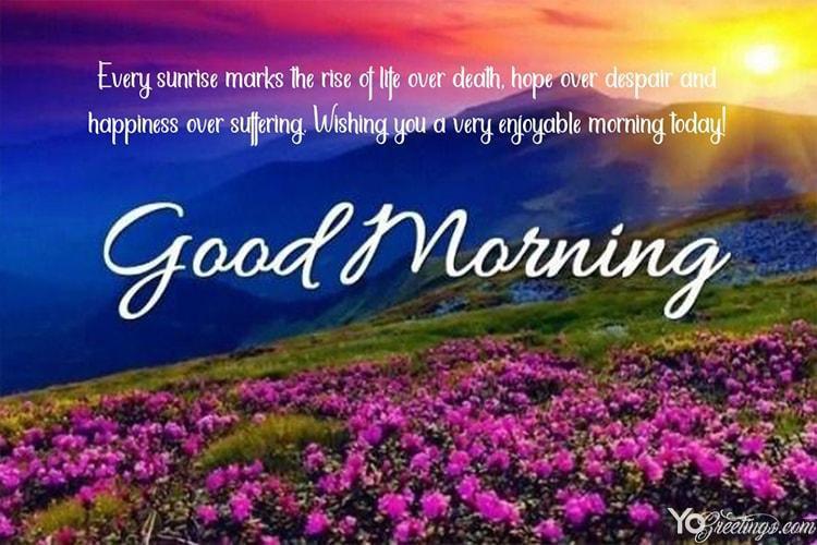 Free Online Good Morning Sunshine Greeting Cards