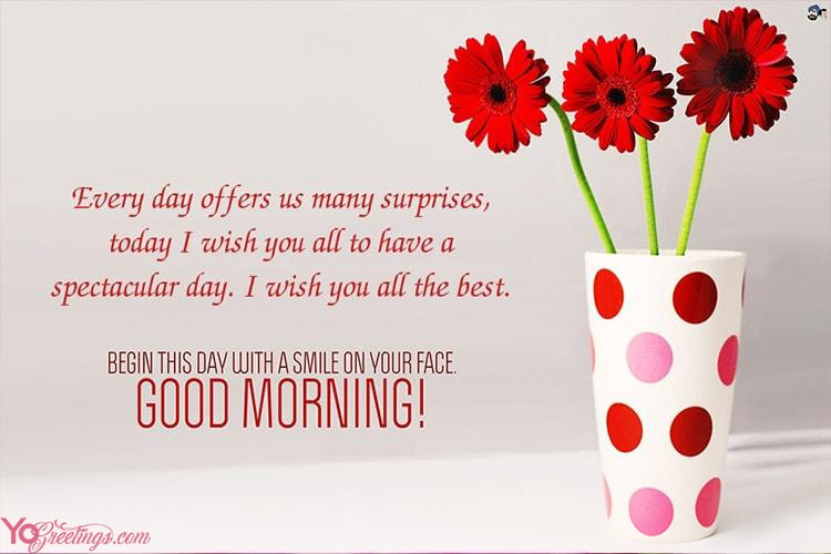 Beautiful Good Morning Greeting Cards for My Love