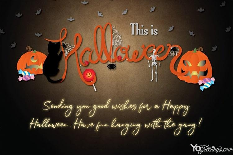 Happy Halloween Greeting Cards Maker Online Free