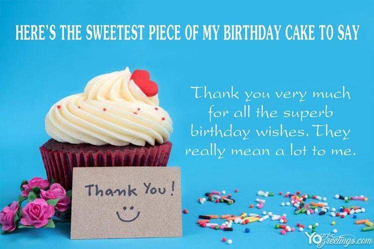 Create Thank You For Your Wishes On My Birthday Card