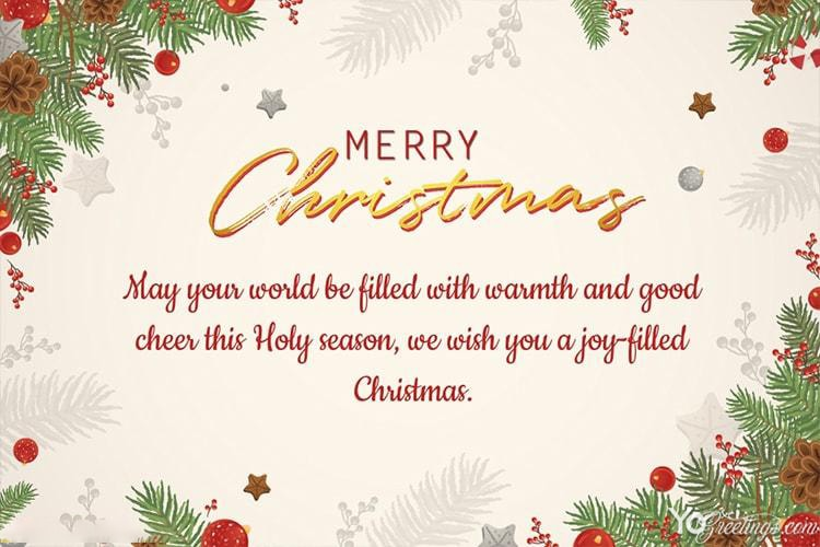 Merry Christmas Card Messages Wishes Maker Online Download