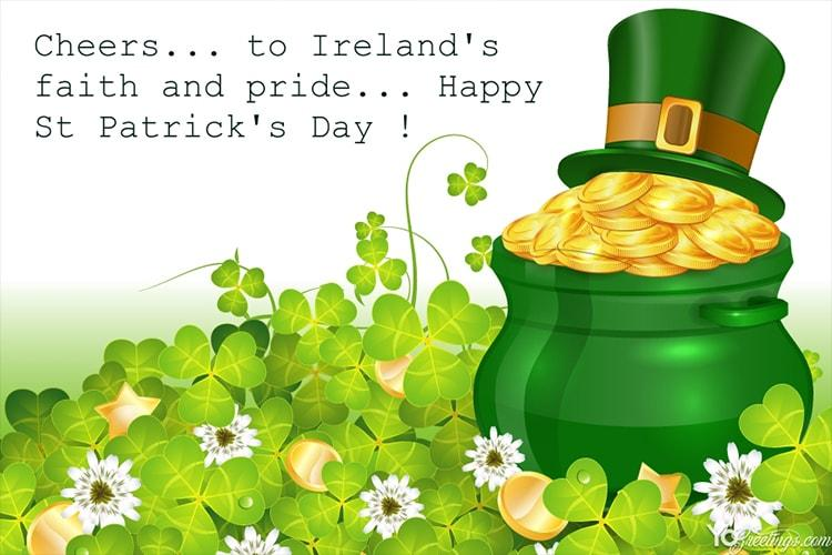 Make St. Patrick's Day Greeting Card Images Online Free