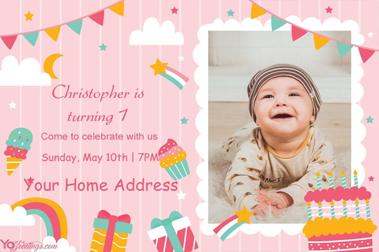 Create Birthday Invitation Card With Photo Online