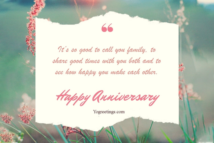 Create Happy Anniversary Card for Friends and Relatives
