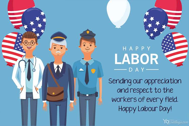 Happy Labor Day Wishes Card Online Free Download