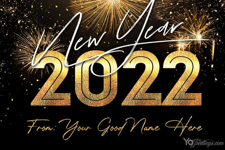 New Year's Eve 2022 Card With My Name Edit Free Download